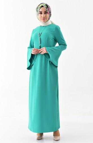 Kolyeli Elbise 2050-01 Yeşil