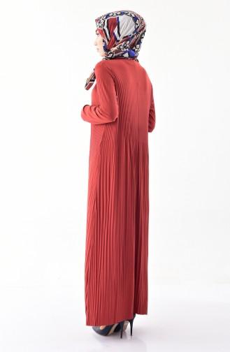 ايلميك فستان بتصميم طيات 5242-04 لون قرميدي 5242-04
