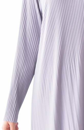 ايلميك فستان بتصميم طيات 5242-05 لون رمادي 5242-05