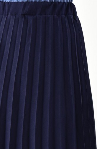 iLMEK Pleated Skirt 5224-03 Navy Blue 5224-03