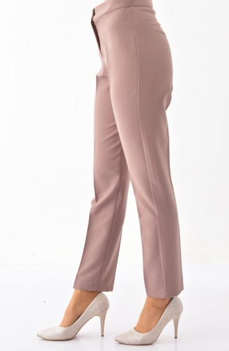 Buttoned Straight Leg Pants 1102-04 Mink 1102-04