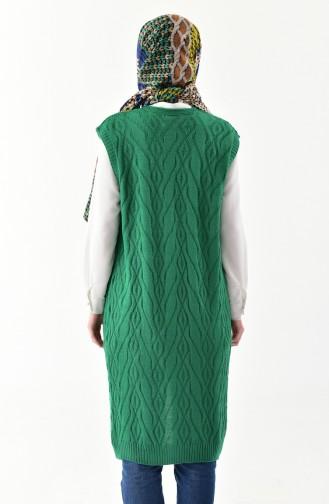 Knitwear Pocket Vest 8110-01 Emerald Green 8110-01