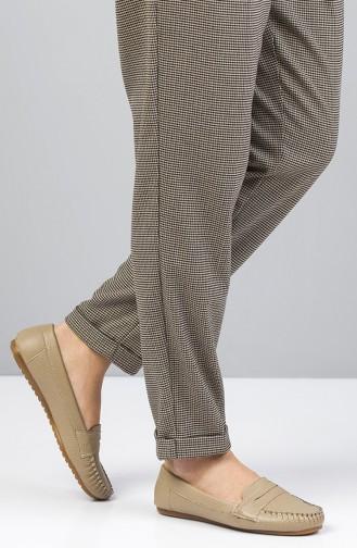Women Flat Shoes Ballerina 3042-07 Mink 3042-07