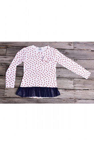 Red Long Sleeve Tops for Kids 134-2