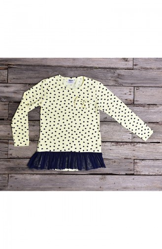 Yellow Long Sleeve Tops for Kids 134-3
