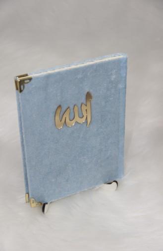 Kadife Kaplı Yasin 10 lu Paket ysn02001-02 Mavi