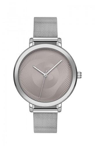 ال سي ساعة يد نسائية بتصميم ستيل BT1215M لون فضي 1215M