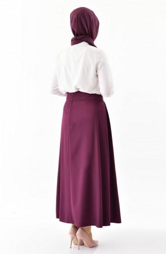 Platted Skirt 0402-01 Plum 0402-01