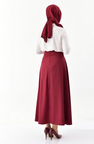 Platted Skirt 0402-03 Bordeaux 0402-03