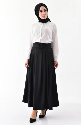 Platted Skirt 0402-05 Black 0402-05