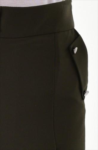 Pantalon Jupe Plissé 31246-04 Vert Khaki 31246-04