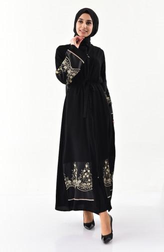 Dantelli Ferace 7755-01 Siyah Gold