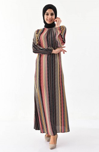 EFE Patterned Summer Dress 0392-02 Yellow 0392-02