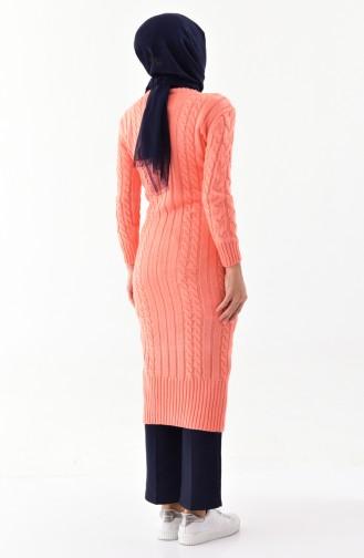 Knitwear Pocket Long Tunic 8085-06 Salmon 8085-06