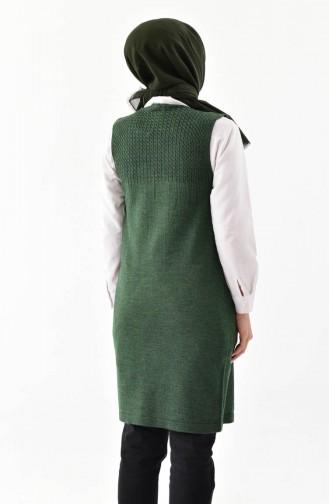 iLMEK Knitwear Pocketed Vest 4121-02 Dark Green 4121-02