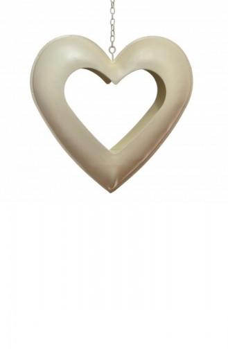 حامل الشمع المعدني بتصميم قلب 2661DK1010