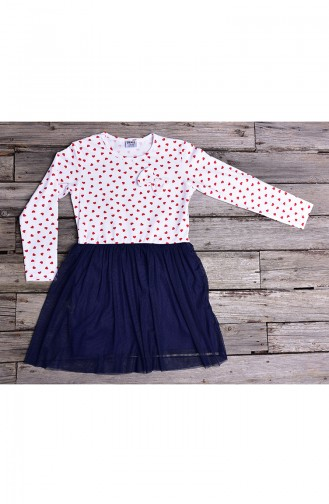 Navy Blue Baby and Kids Dress 132-1