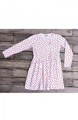 Red Baby and Kids Dress 133-4