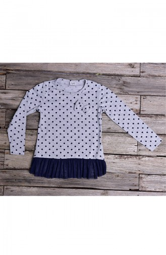 Gray Long Sleeve Tops for Kids 134-1