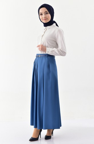 Belt Skirt 0401-02 İndigo 0401-02