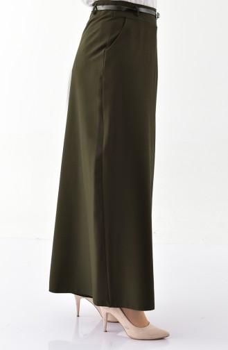 Pantalon Jupe a Ceinture 31248-04 Vert Khaki 31248-04