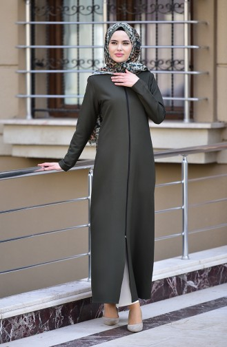 Abaya a Fermeture 2129-02 Khaki 2129-02
