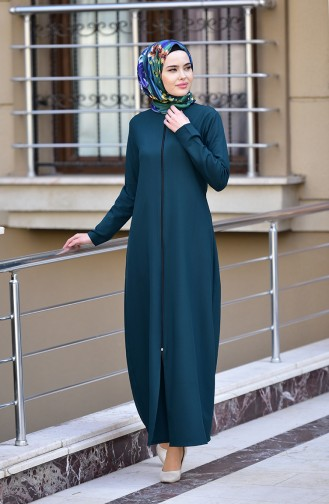 Abaya mit Reissverschluss 2129-03 Smaragdgrün 2129-03