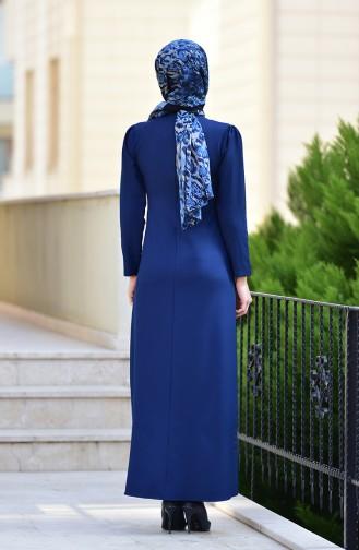 Robe avec Collier 4508-02 Bleu Marine 4508-02