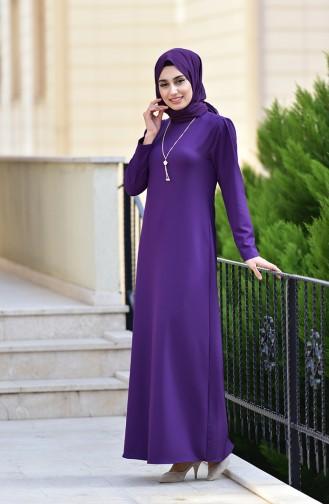 Robe avec Collier 4508-05 Pourpre 4508-05