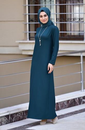 Robe avec Collier 4508-06 Vert emeraude 4508-06