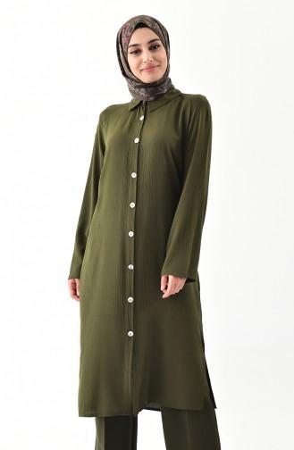 iLMEK Buttoned Tunic 5244-03 Khaki 5244-03