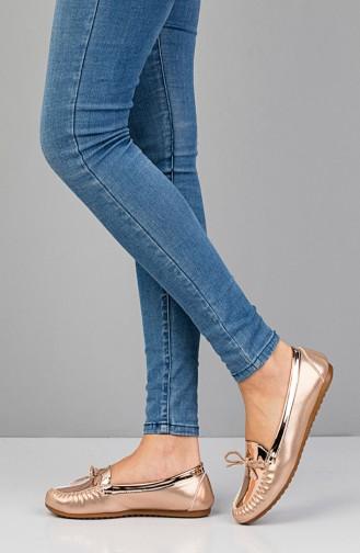 Bronze Woman Flat Shoe 3110
