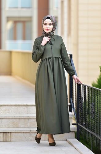 Abaya mit Reissverschluss 2130-04 Khaki 2130-04