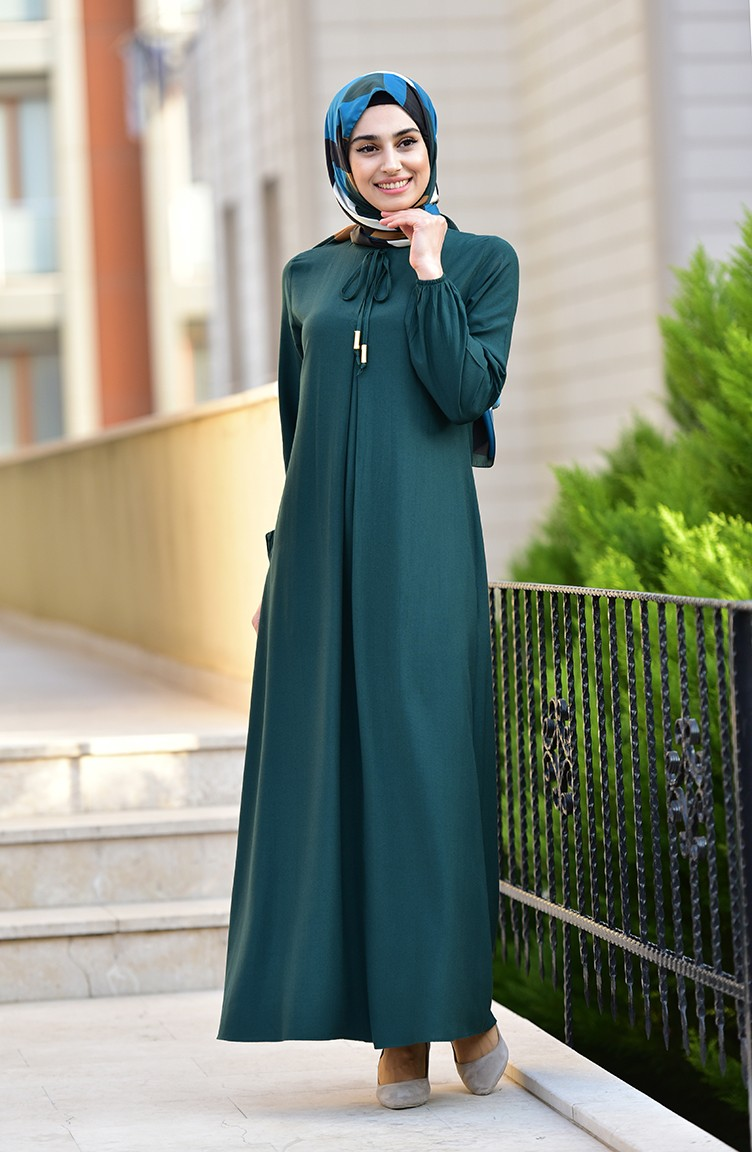 Smaragdgrün Hijap Kleider 14-14