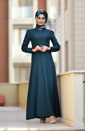 Smaragdgrün Hijap Kleider 4509-05