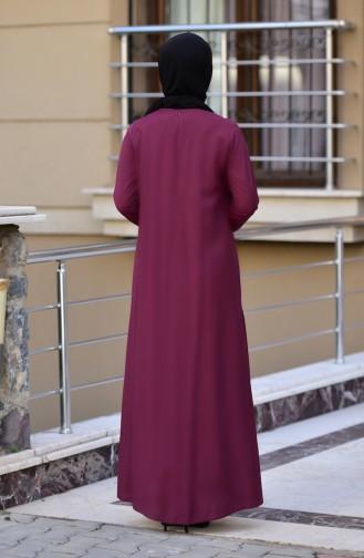 Robe avec Collier 10111-06 Bordeaux 10111-06