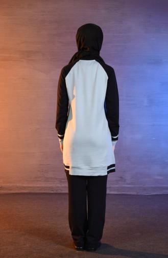 بي وست بدلة رياضية بتصميم مُطبع 8332-02 لون ازرق فاتح 8332-02