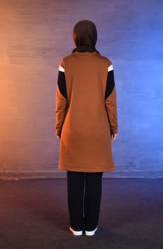 بي وست بدلة رياضية بتصميم جيوب 8344-03 لون اصفر داكن 8344-03