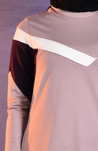بي وست بدلة رياضية بتصميم جيوب 8344-05 لون ليلكي 8344-05