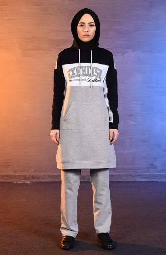 BWEST Hooded Tracksuit 8375-06 Gray 8375-06