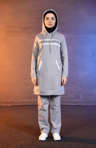 BWEST Pockets Tracksuit 8395-03 Gray 8395-03