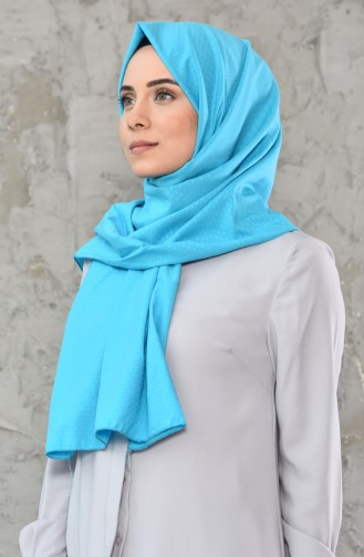Patterned Cotton Shawl 4109-01 Turquoise 4109-01