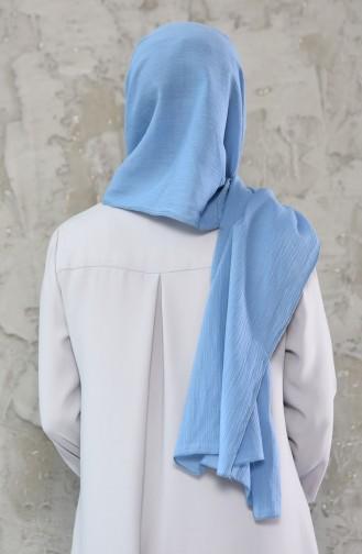 Plain Pleated Chiffon Shawl 4116-01 Baby Blue 4116-01