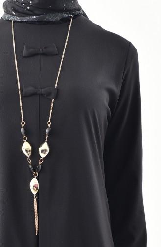 Tunika mit Halskette 1194-06 Schwarz 1194-06
