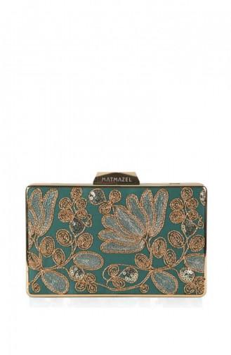 Matmazel Mirage Evening Dress Bag182Tb8708 Green 182TB8708-YEŞİL-19