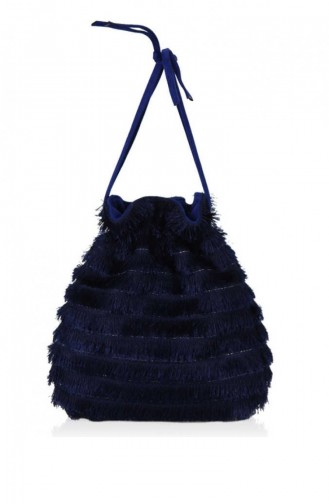 Matmazel Nita Evening Dress Bags 182Lf582 Navy 182LF582-LACİVERT-11