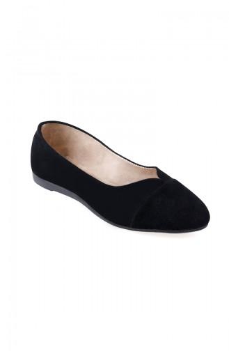 Black Woman Flat Shoe 0113-01