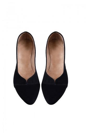 Women Flat Shoes Ballerina 0113-01 Black 0113-01