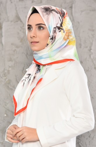 Patterned Twill Scarf 95243-05 Cream 95243-05