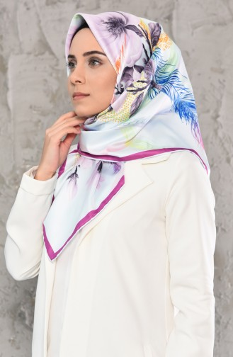Patterned Twill Scarf 95243-06 Ice Blue 95243-06
